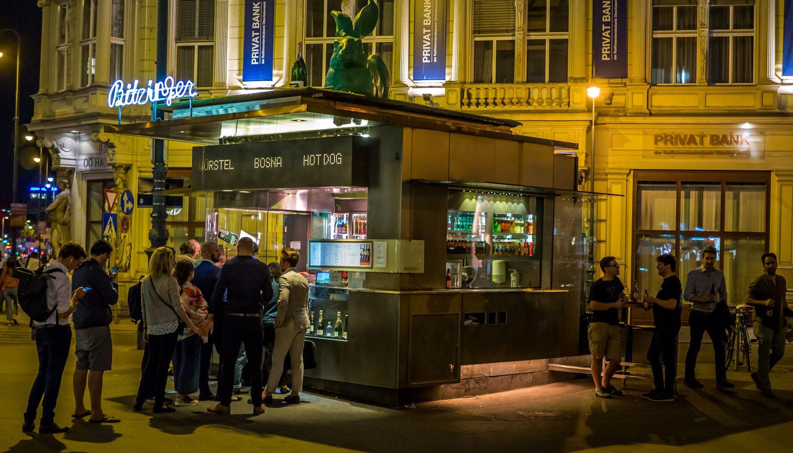 Wurstel stand in Vienna