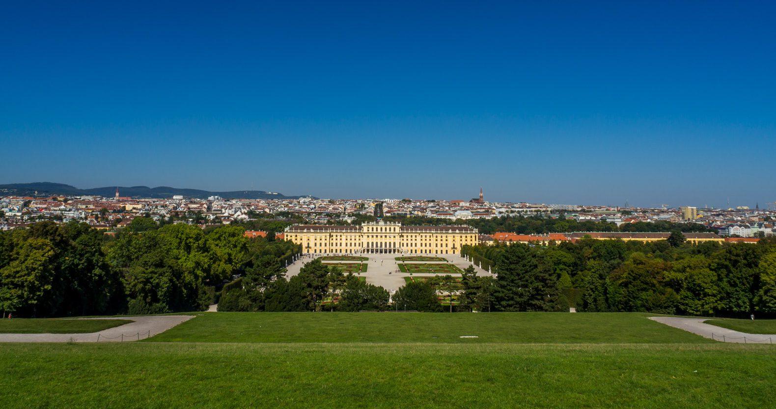 Schönbrunn Palace as seen from the palace gardens
