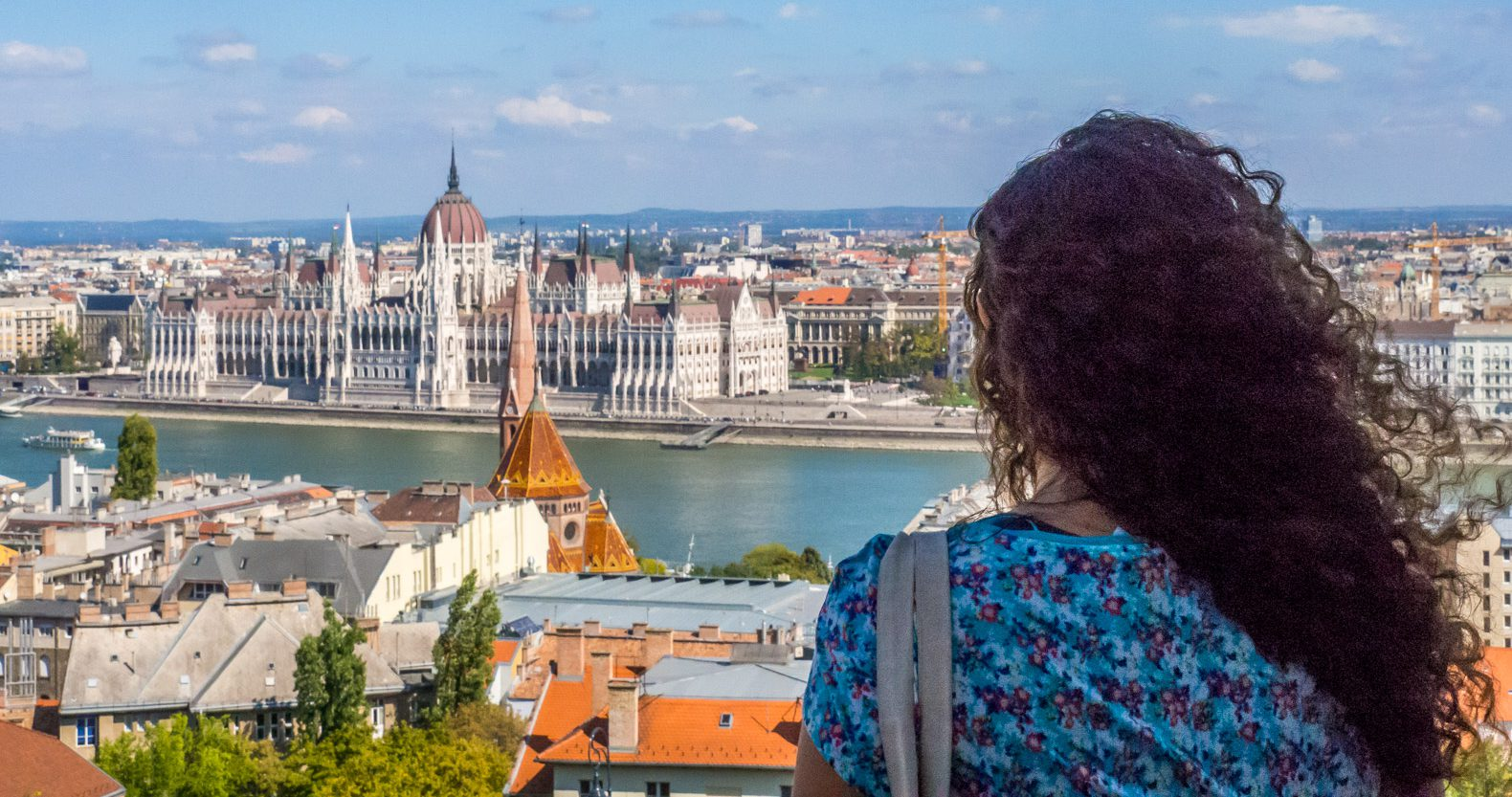 A view on Pest from Buda Hill