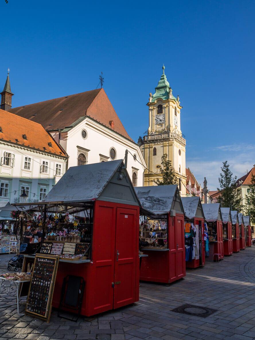Our Central Europe Itinerary - From Vienna to Budapest - Hlavné námestie - Bratislava Main Square