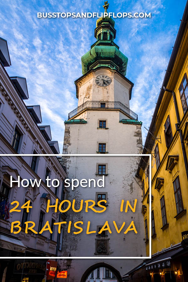 Our top Bratislava (Slovakia) things to do, for a 24-hour visit. Travel to this lovely old town when you're in Central Europe and enjoy Bratislava Castle, the Slavin Memorial, and other Bratislava highlights!