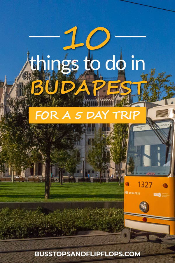 Budapest should definitely be in your itinerary when you travel to Hungary. The delicious food, the relaxing baths, the great architecture and the vibrant nightlife make it one of the best city trip destinations in Europe. You can easily spend five days in this amazing city and we'll tell you exactly which things to do and which places to visit.