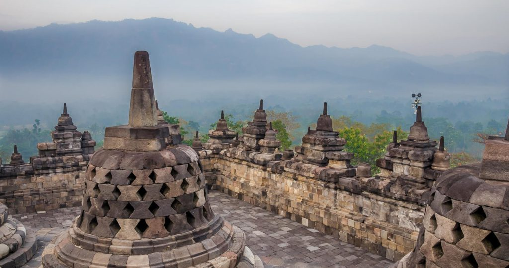 Awesome things to do in Yogyakarta - Bell shaped Stupa at Borobudur