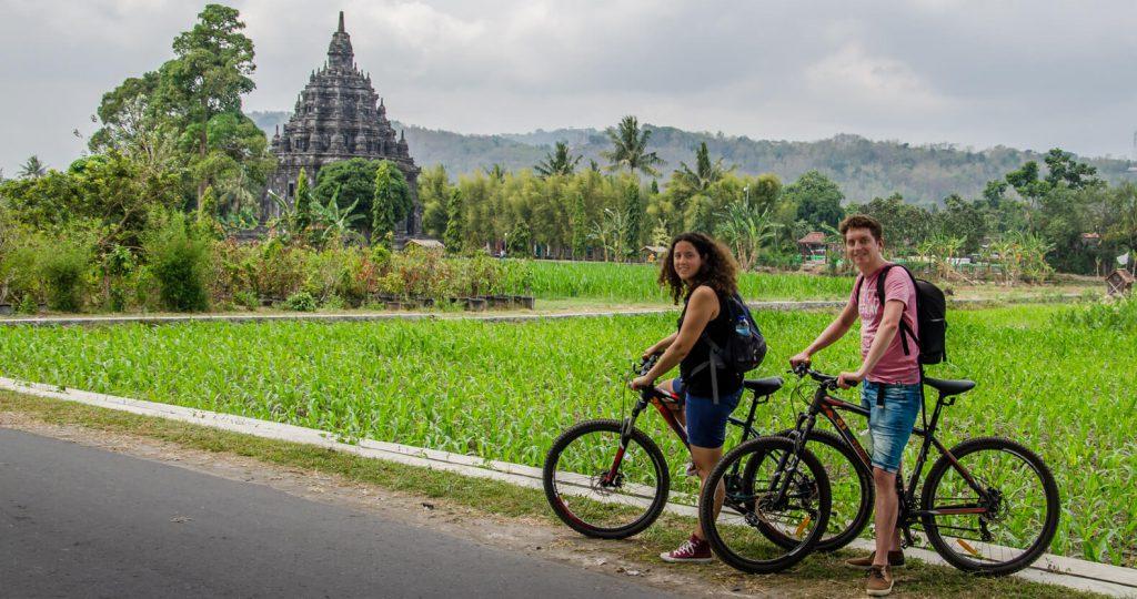 Awesome things to do in Yogyakarta - Biking to Prambanan