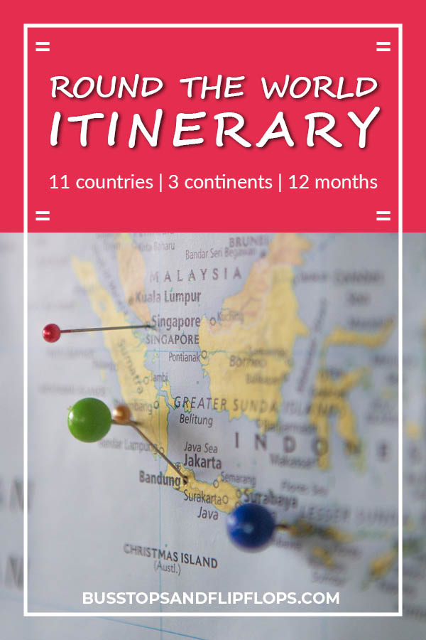 The best round the world itinerary (if we may say so ourselves). This round the world itinerary example will take you to 11 countries across 3 continents in 12 months. See how we travel the world for one year and be inspired to travel long term!
