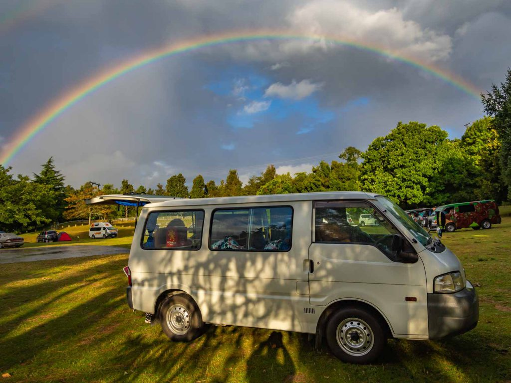 The campervan that takes us on our roadtrip through New Zealand
