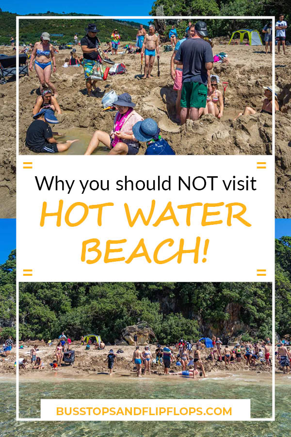 Hot Water Beach did not turn out to be what we expected of it. Read this blog post to find out why you should NOT wase your time on Hot Water Beach, but visit Cathedral Cove instead!