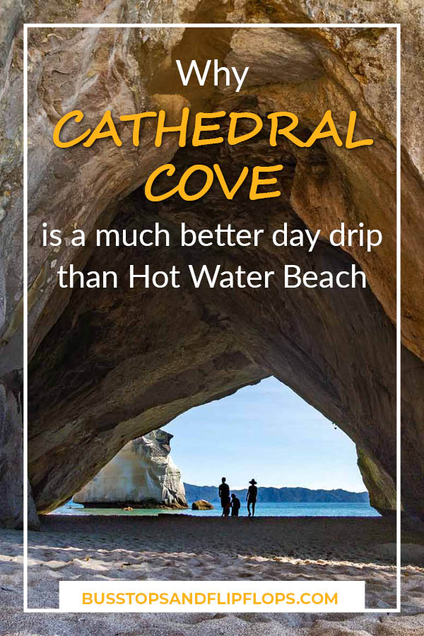 We visited both Cathedral Cove and Hot Water Beach in one day, while we were on the Coromandel Peninsula in New Zealand. In this post, we'll explain why Cathedral Cove is a much better day trip than Hot Water Beach and why we wish we'd spent the entire day there!
