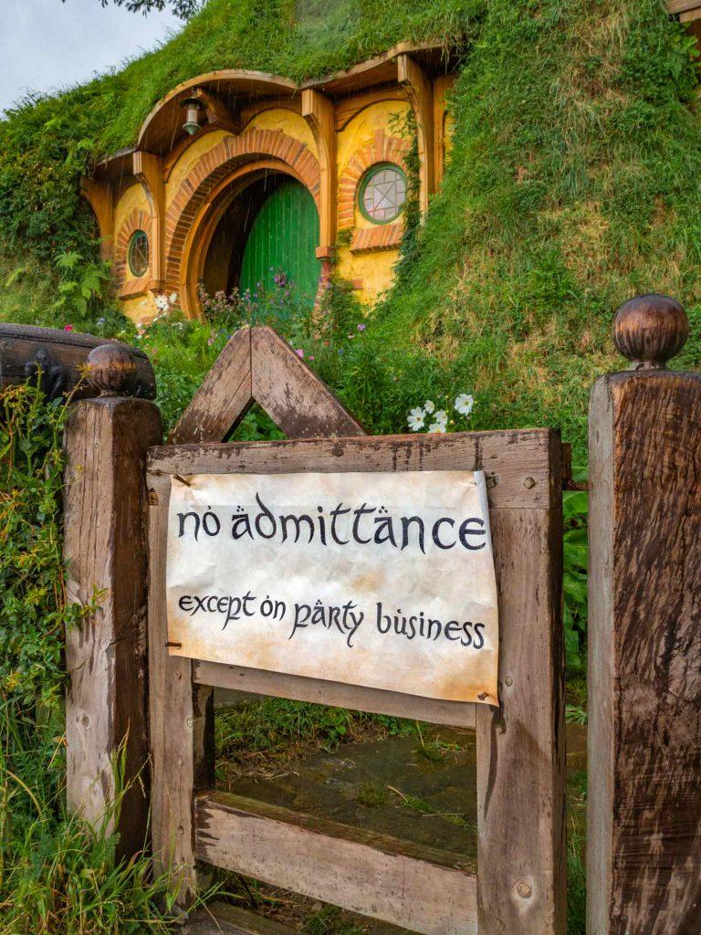 Bilbo Baggins house in Hobbiton near Rotorua