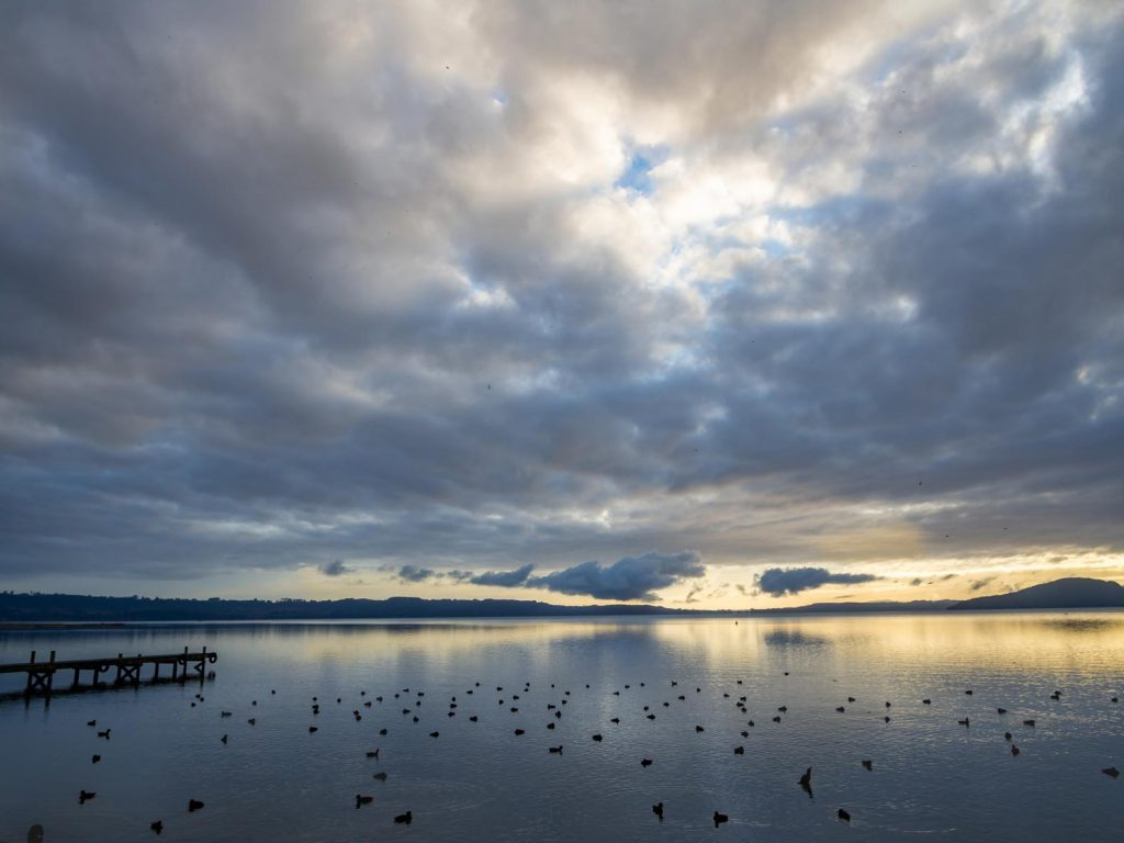New Zealand image: Sunrise over Lake Rotorua