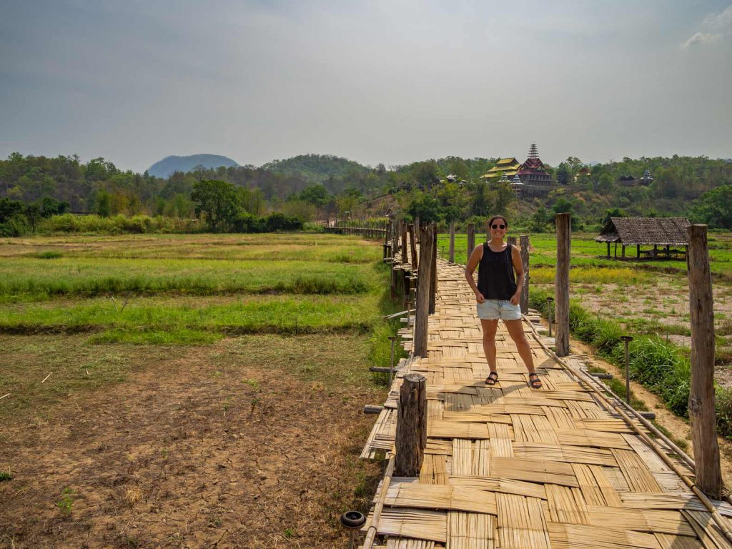 Bamboo Bridge near Mae Hong Son