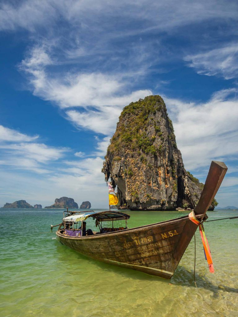 Classic view on any South Thailand itinerary: the longtail boat