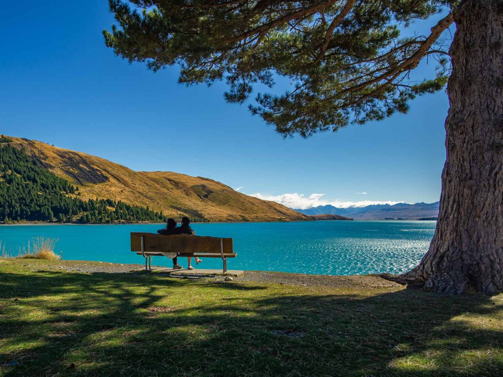 View of Lake Tekapo, South Island New Zealand