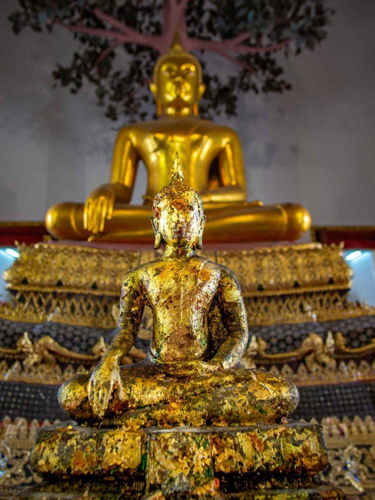 Small Buddha at Wat Pho in Bangkok, one of the more popular Bangkok attractions.