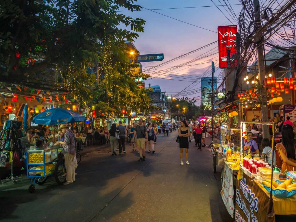 Stay near Rambuttri Alley in Bangkok for the first few nights of your Southern Thailand itinerary.