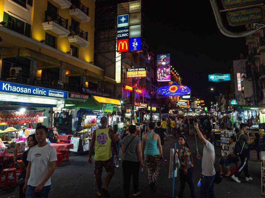 Khao San Road by night, Bangkok