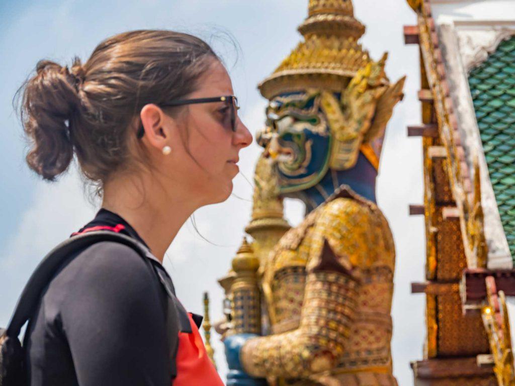 Demon guard at The Royal Palace in Bangkok.