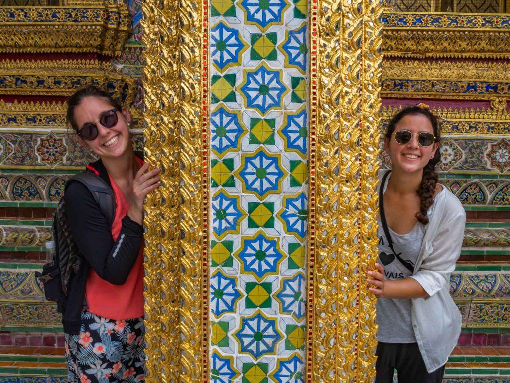 Column of temple at the Royal Palace in Bangkok