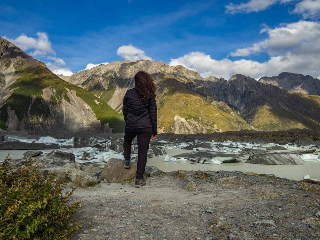 New Zealand South Island Hike to Tasman Glacier