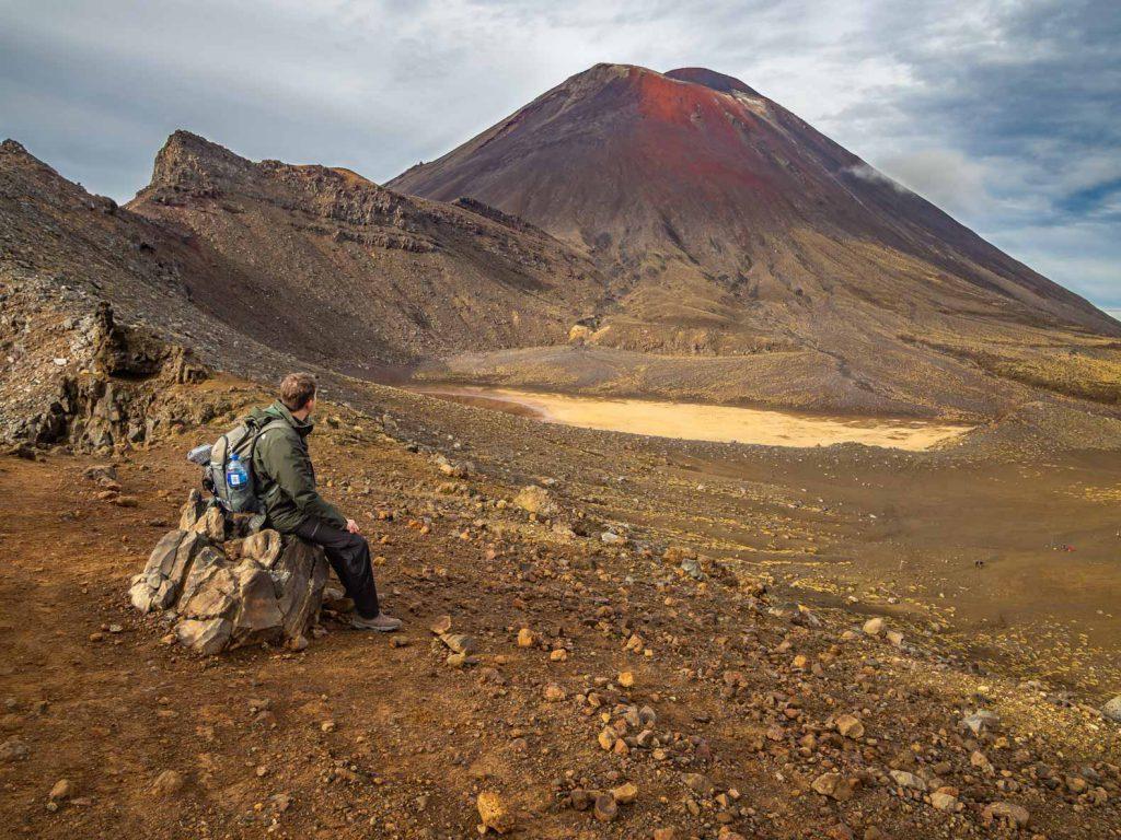 View at the Tongariro Alpine Crossing Hike