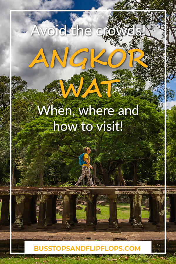 When, where and how to visit Angkor Wat without the crowds! The highlight of Cambodia is just not the same when you have to share the temple with hundreds or thousands of other people. Follor our tips and enjoy the temples all by yourself.