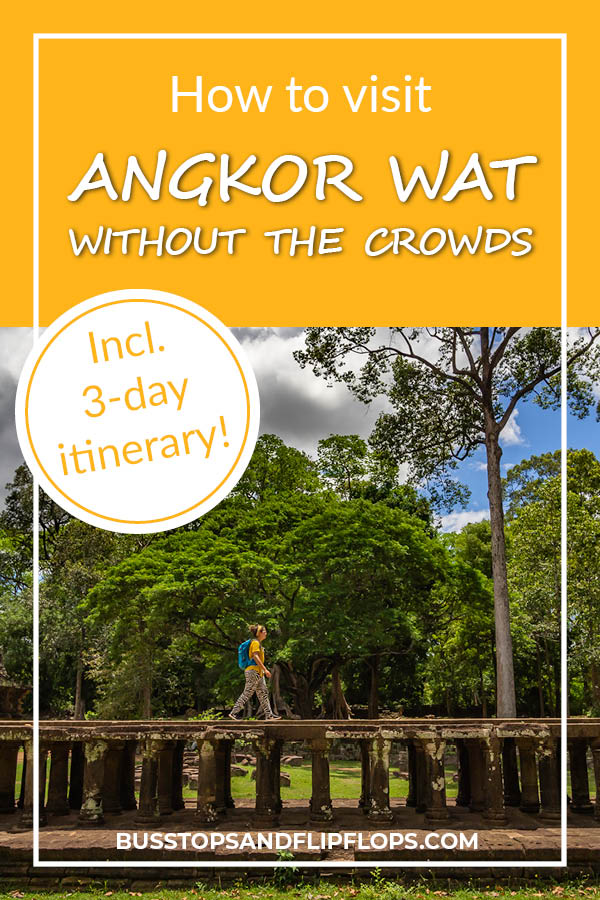 Our complete guide to visiting Angkor Wat without the crowds. Including a 3-day itinerary that takes you beyond the main temple and off the beaten track. Watch an amazing sunrise, discover the smaller temples of the Big Loop and hike accross the walls of Angkor Thom. All without being poked in the eye by selfie sticks!
