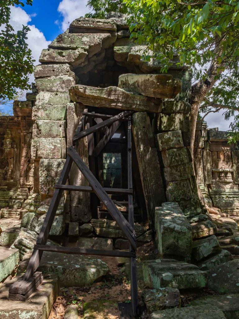 Temple on the Southwest corner of Angkor Thom Wall