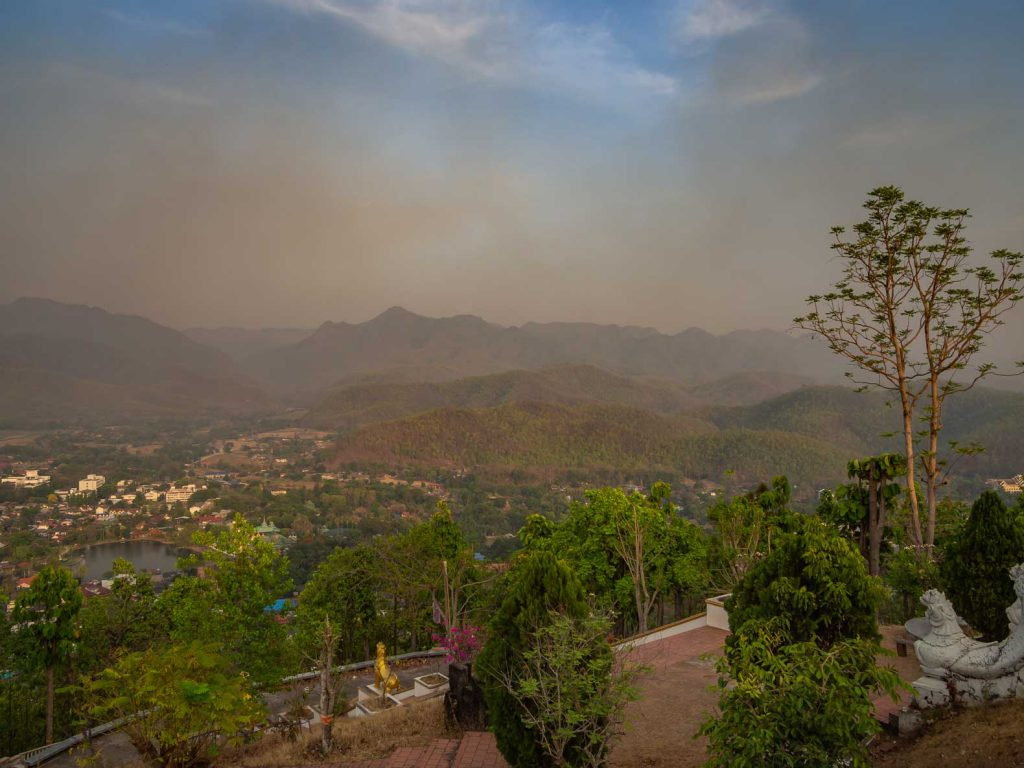 Smokey season in Northern Thailand