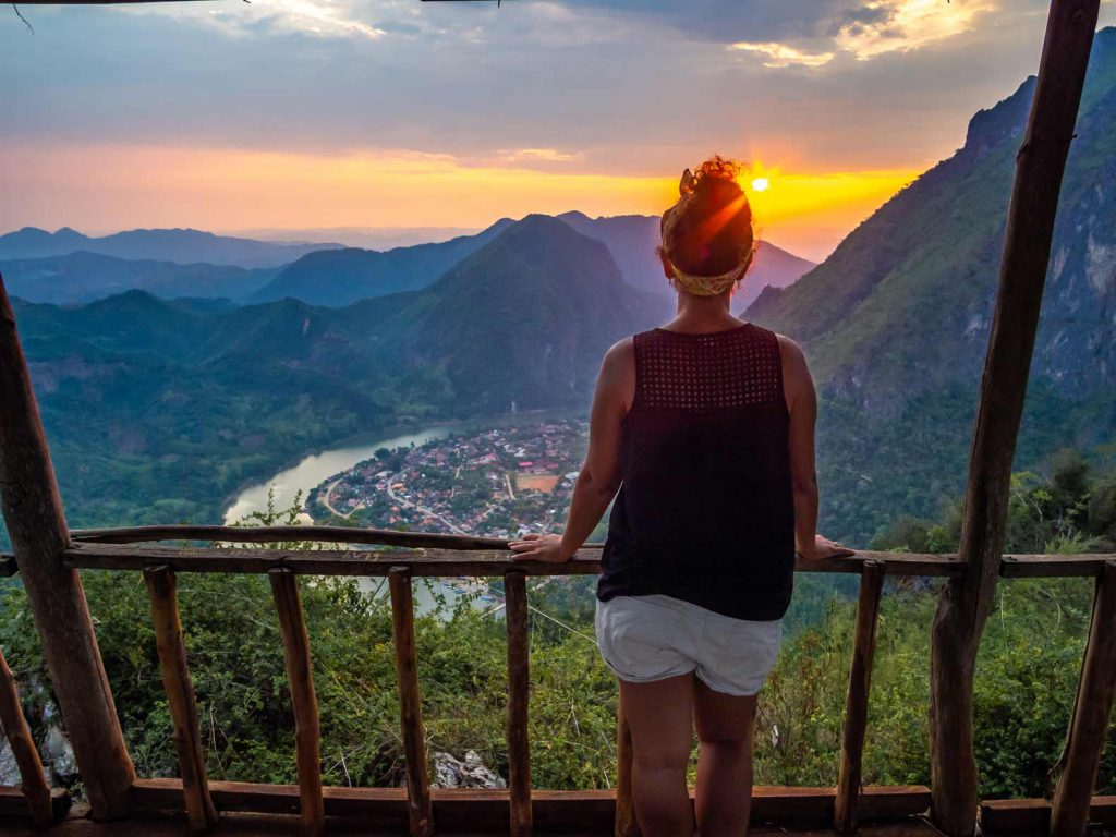 Nong Khiaw Viewpoint at sunset