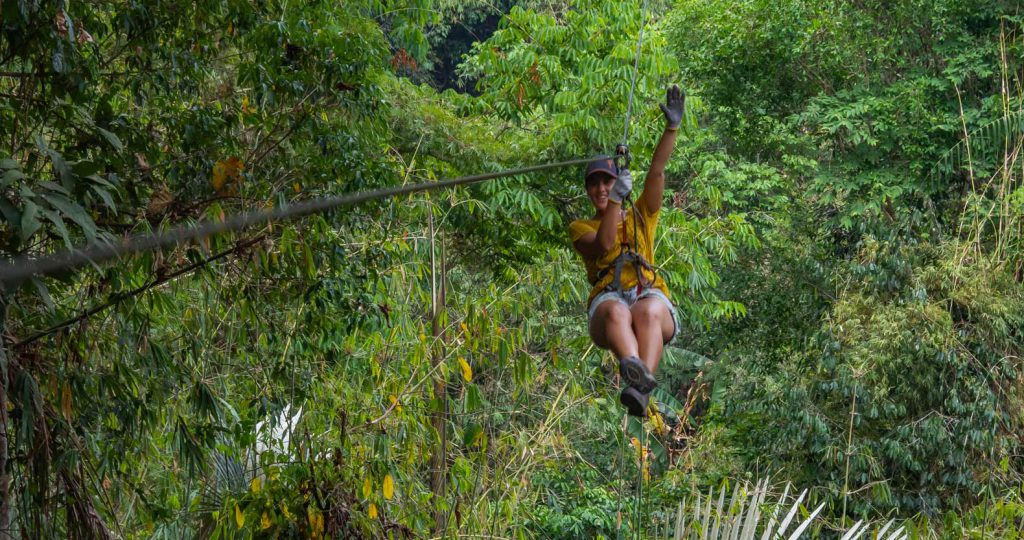 Sandra ziplining