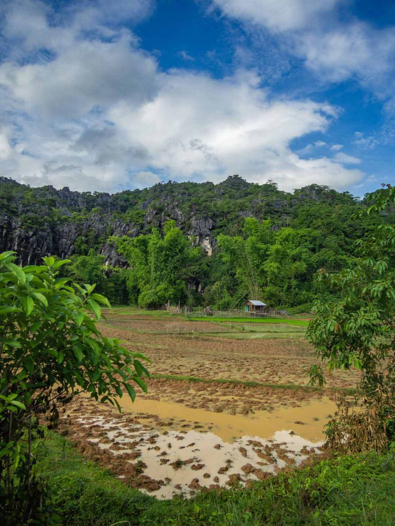 Karst mountains on the Thakhek Loop