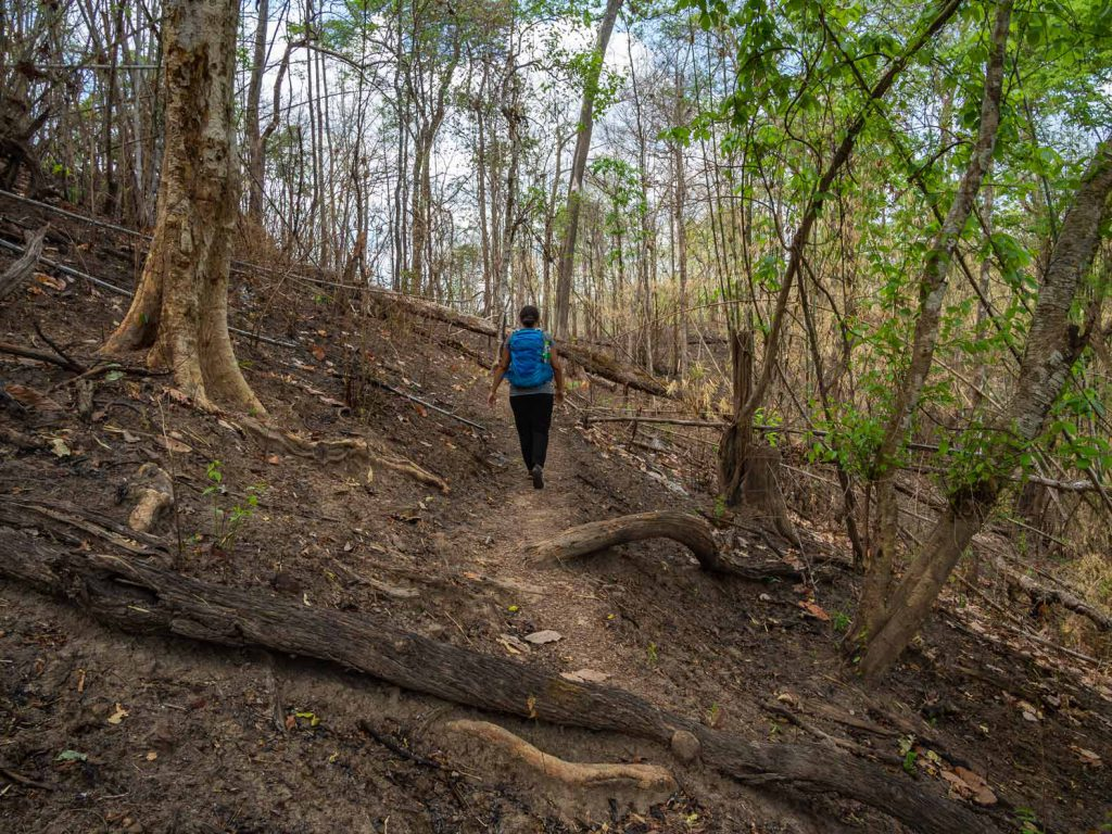 Walking through Salawin National Park on the Mae Hong Son loop