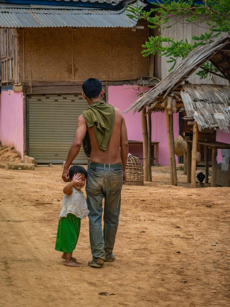 Child in village on Nong Khiaw tour
