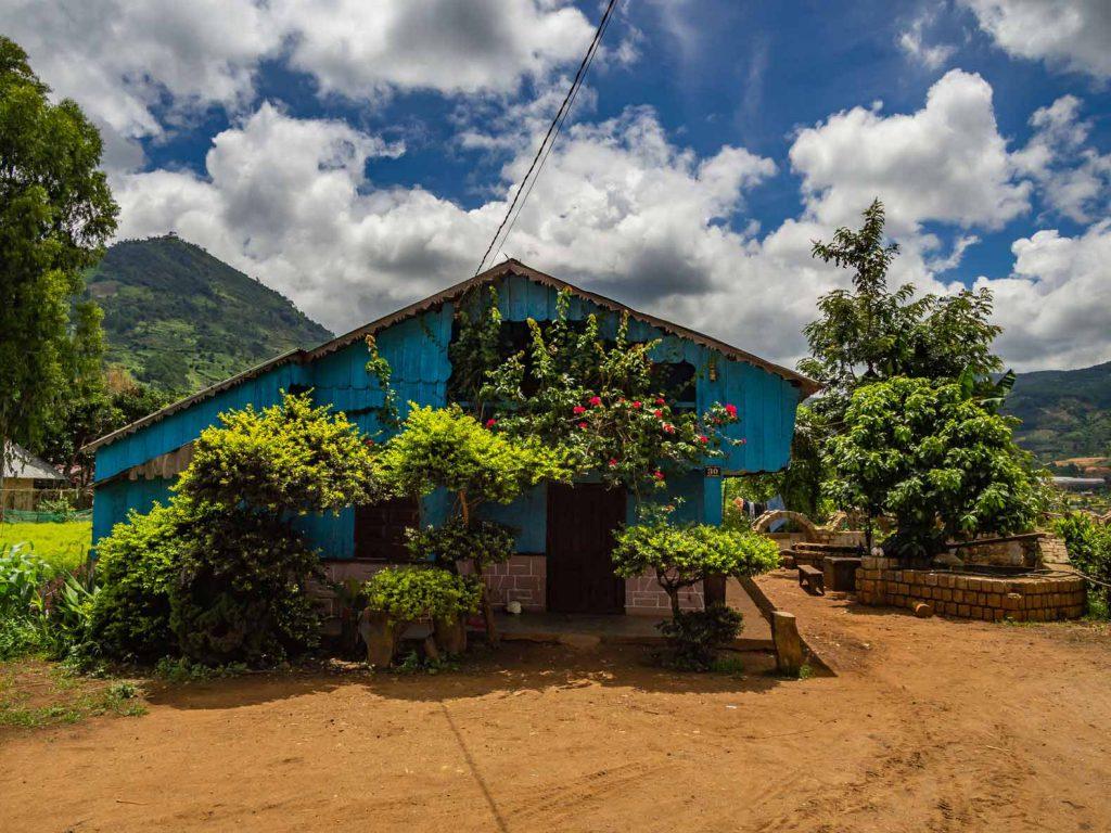 Traditional Hmong house in Chicken village near Dalat, Vietnam