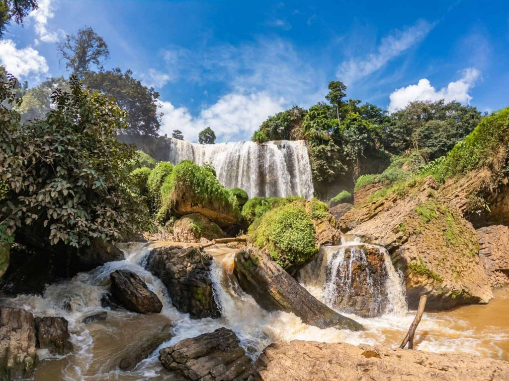The Elephant Falls near Dalat, Vietnam - one of the stops on our Easyrider tour