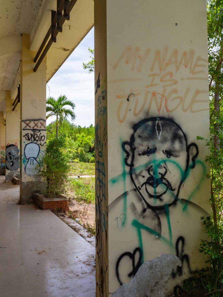 Graffiti at the abandoned Hue waterpark