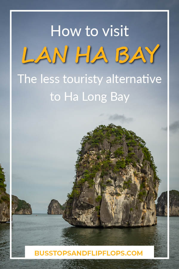 How to visit Lan Ha Bay, the less touristy alternative to Ha Long Bay from Cat Ba island! Cruise between the stunning karst mountains, kayak through hidden lagoons and sleep in the bay.