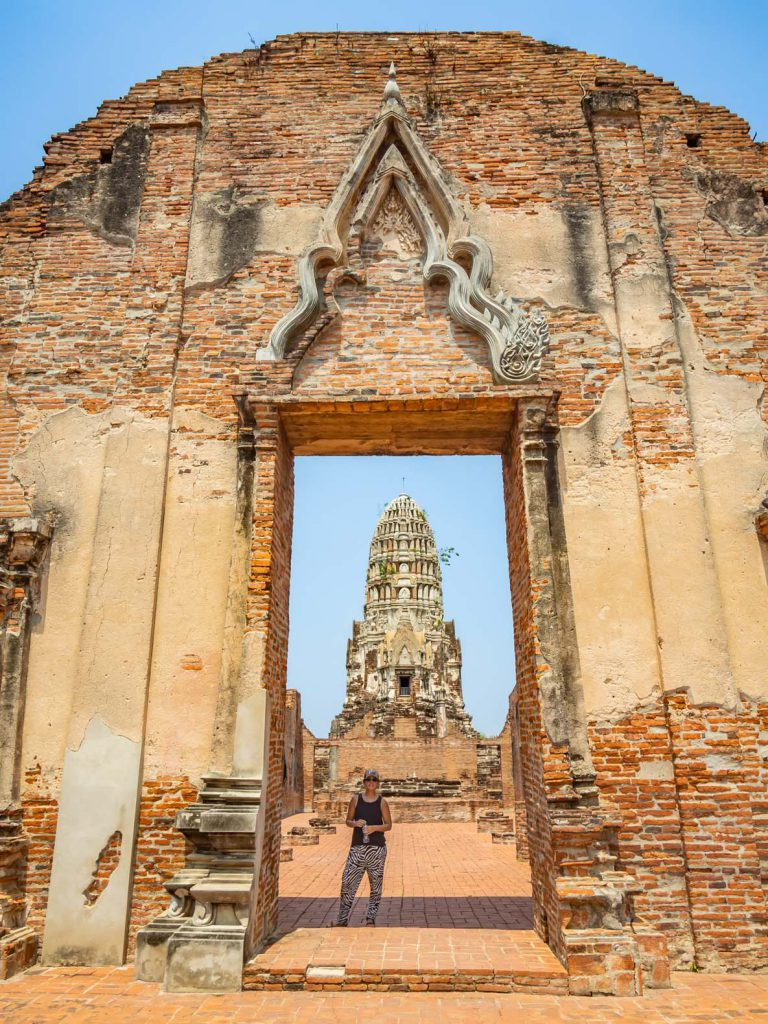 Beautiful architecture at the UNESCO world heritage site of Ayutthaya