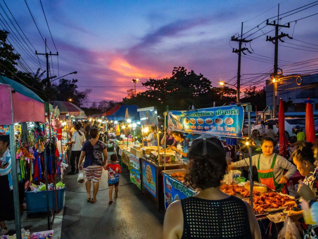 Night market in Ayutthaya, Thailand