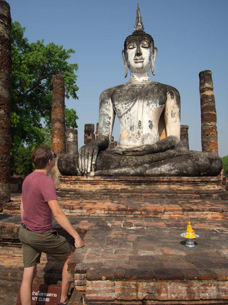 Buddha statue at the Sukhothai historical park