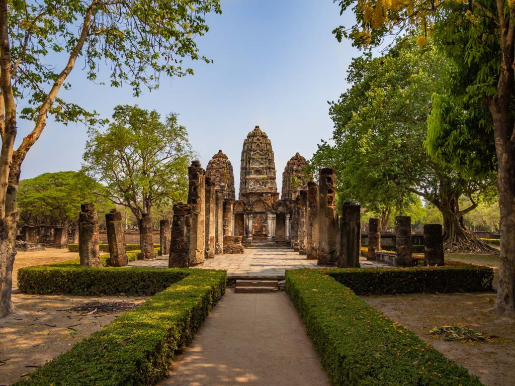 Temple at Sukhothai historical park
