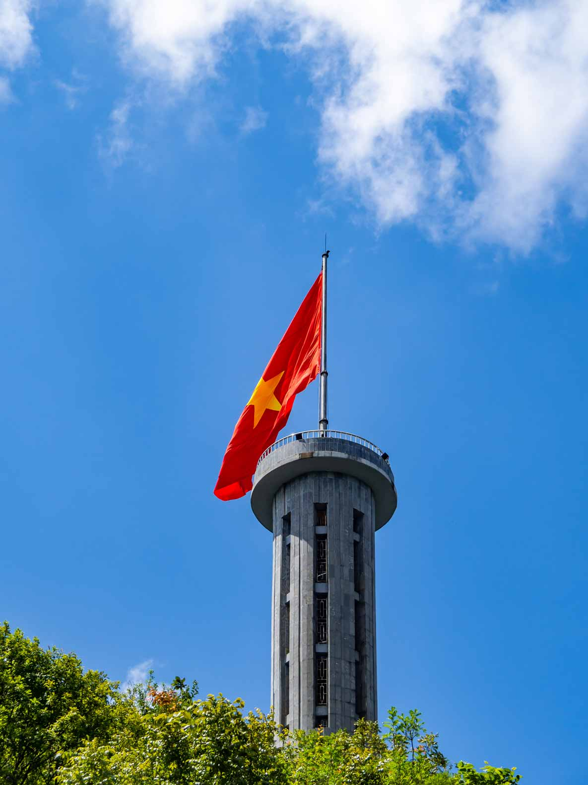 The Lung Cu Flagpole in the most northern part of Vietnam