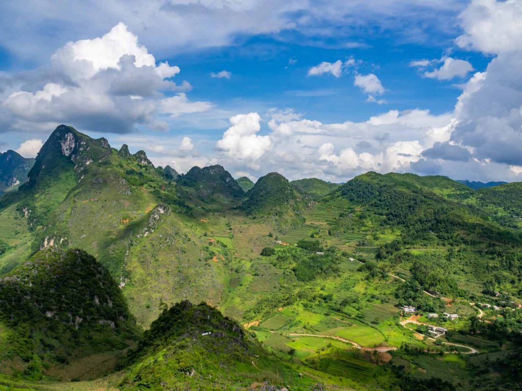 Mountain views in Northern Vietnam, Ha Giang province