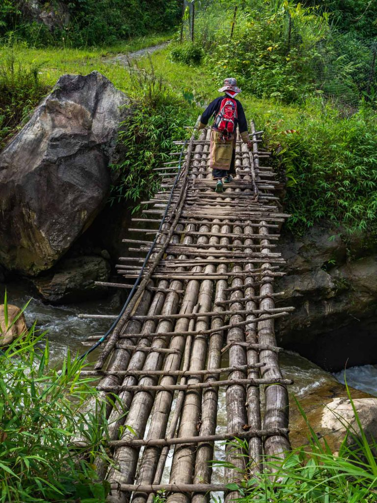Bamboo bridge near Sapa