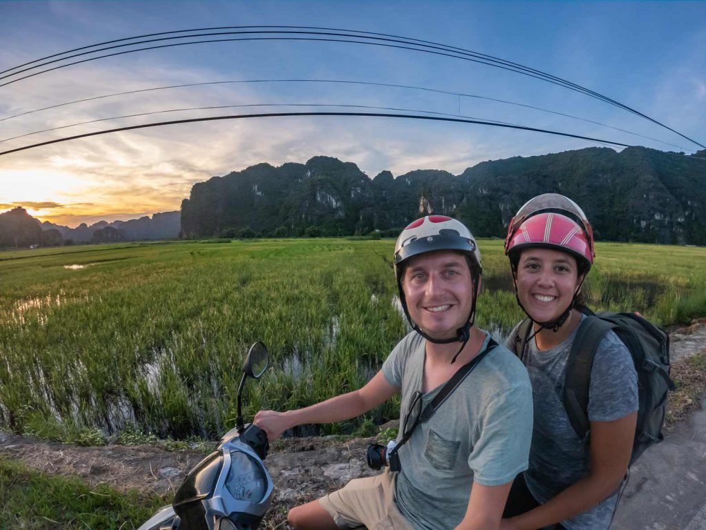 Exploring the rice fields around Ninh Binh, Vietnam
