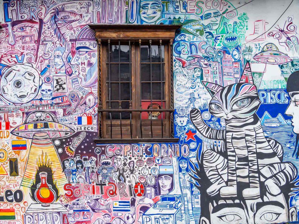 Graffiti in La Candeleria, Bogota