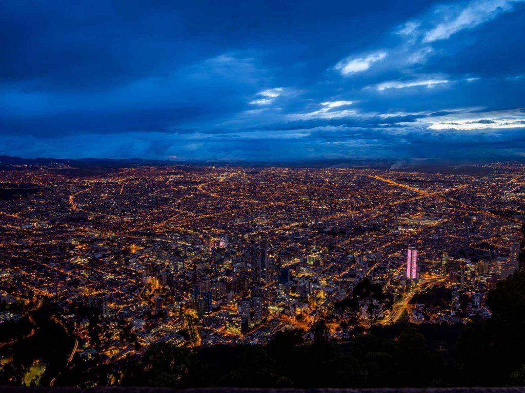 Bogota sunset view from Cerro Monserrate - definitely worth visiting