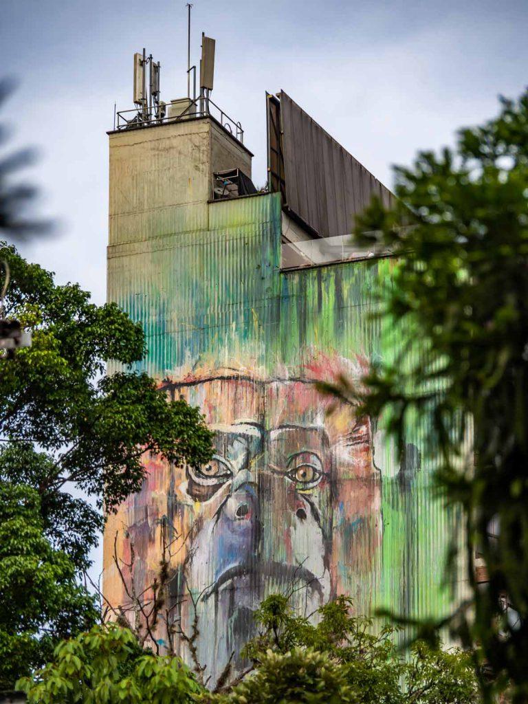 Big graffiti in El Poblado, Medellin, Colombia