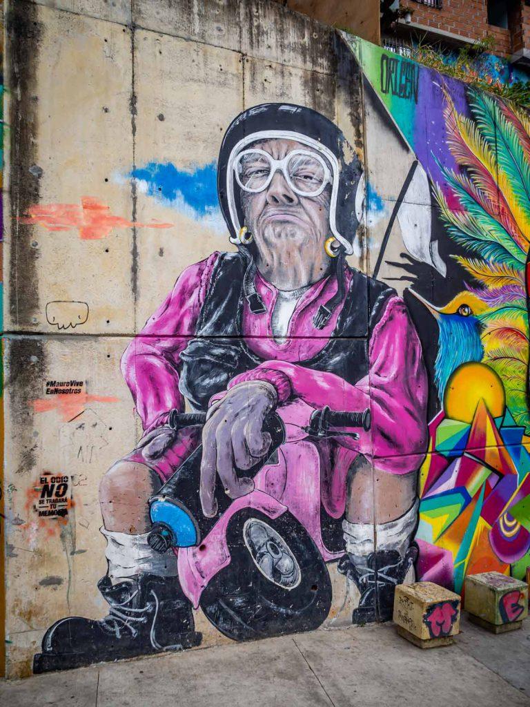 Urban art in Comuna 13, Medellin, Colombia